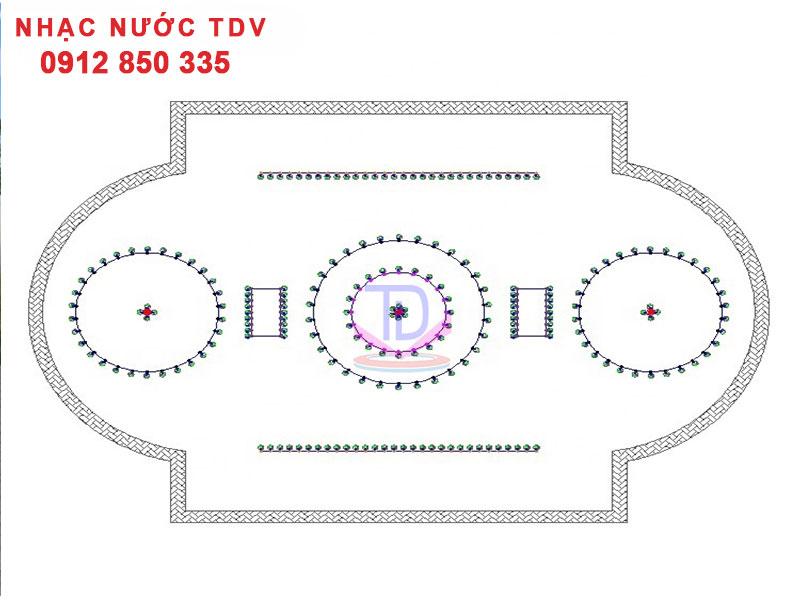 Bản vẽ nhạc nước bể dài - bể elip - bể đa giác - hình bán nguyệt 1