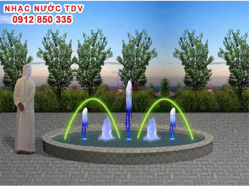 Mẫu nhạc nước bể hình tròn - Nhạc nước hồ tròn 2
