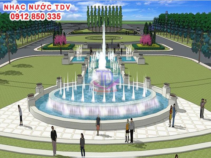 Mẫu nhạc nước bể hình tròn - Nhạc nước hồ tròn 21