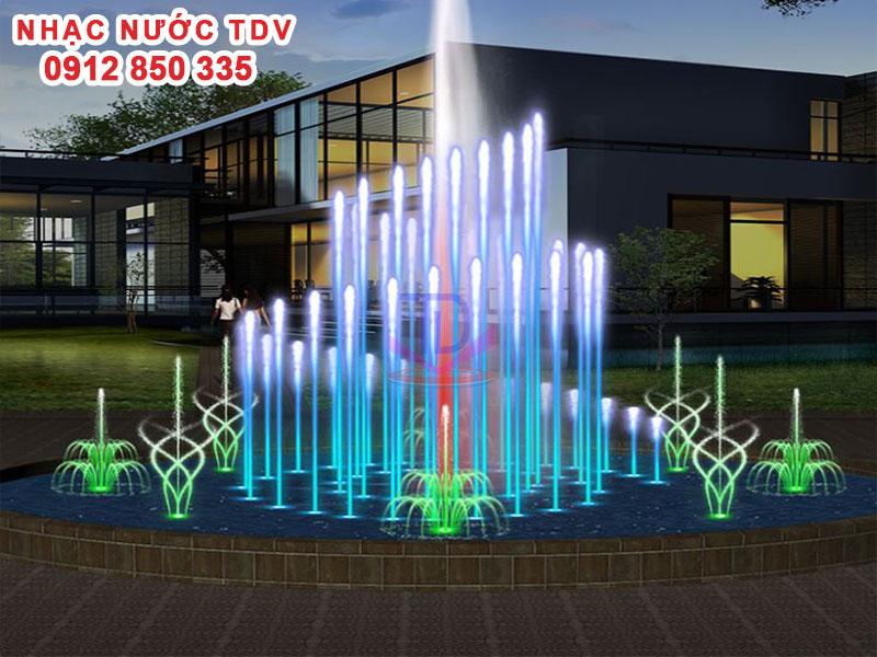 Mẫu nhạc nước bể hình tròn - Nhạc nước hồ tròn 26