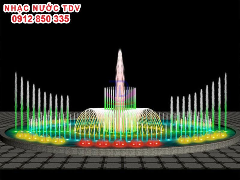 Mẫu nhạc nước bể hình tròn - Nhạc nước hồ tròn 27