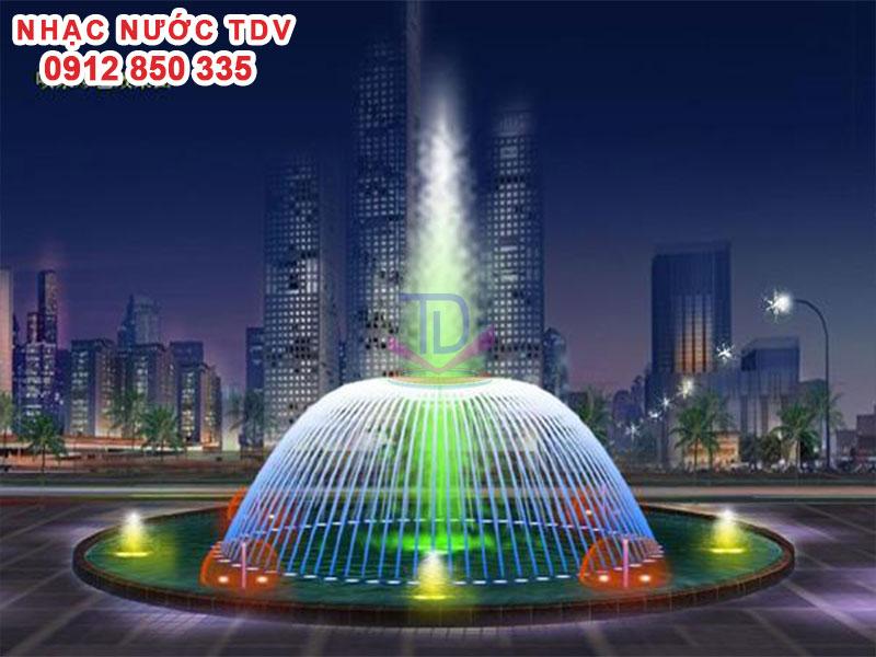 Mẫu nhạc nước bể hình tròn - Nhạc nước hồ tròn 31