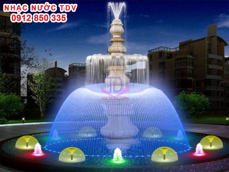 Mẫu nhạc nước bể hình tròn - Nhạc nước hồ tròn 34