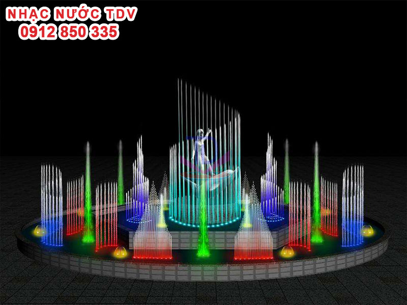 Mẫu nhạc nước bể hình tròn - Nhạc nước hồ tròn 35