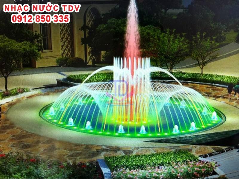 Mẫu nhạc nước bể hình tròn - Nhạc nước hồ tròn 48