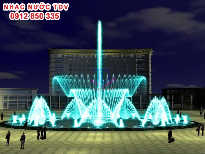 Mẫu nhạc nước bể hình tròn - Nhạc nước hồ tròn 54