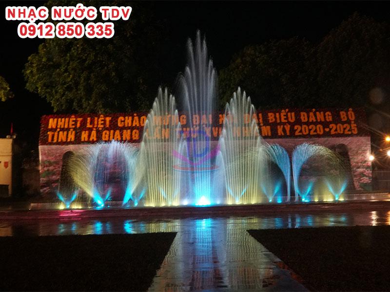 Thi công Quảng trường Nhạc nước 26/3 TP Hà Giang