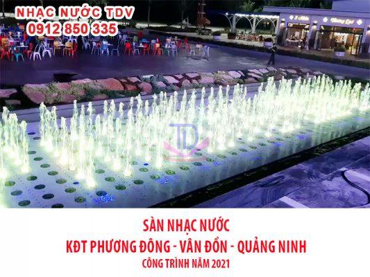 Nhạc nước quảng trường biển KĐT Phương Đông 12