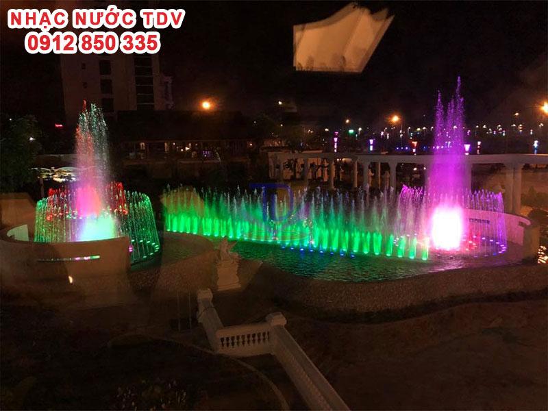 Thi công Nhạc nước khách sạn Hoàng Nhâm – Lai Châu