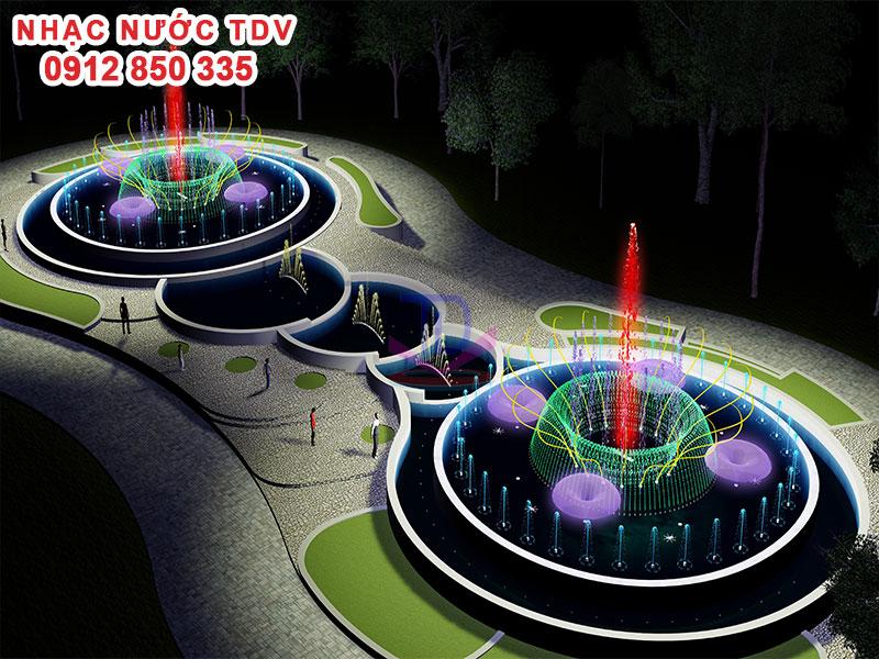 Nhạc nước TDV Đơn vị thiết kế thi công Nhạc nước 5