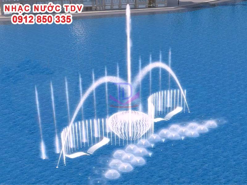 Hệ thống Nhạc nước phao nổi cho sông hồ