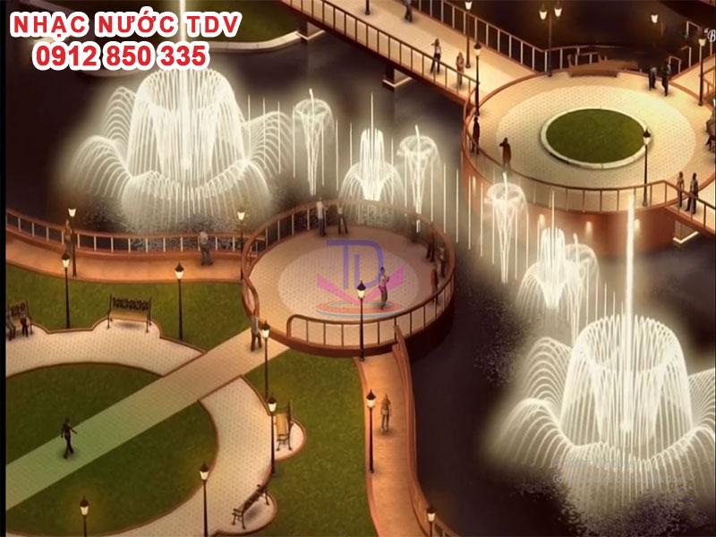 Quảng trường Nhạc nước mô phỏng 3D