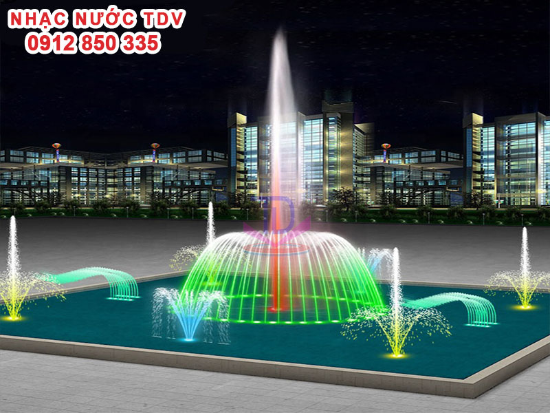 Thiết kế Nhạc nước bể hình chữ nhật - Nhạc nước bể dài 1