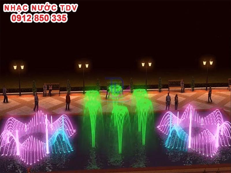 Thiết kế Nhạc nước bể hình chữ nhật - Nhạc nước bể dài 12