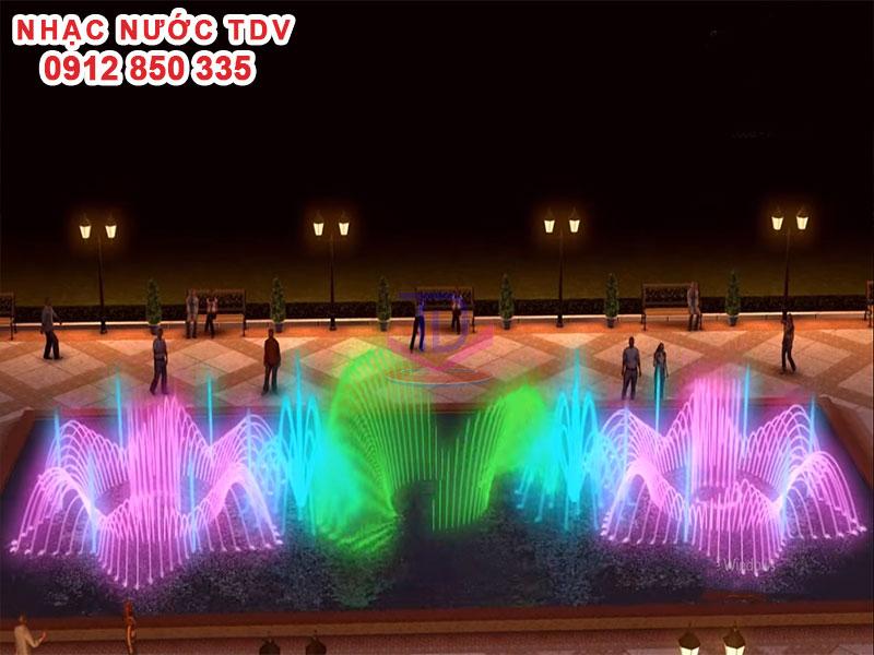 Thiết kế Nhạc nước bể hình chữ nhật - Nhạc nước bể dài 13