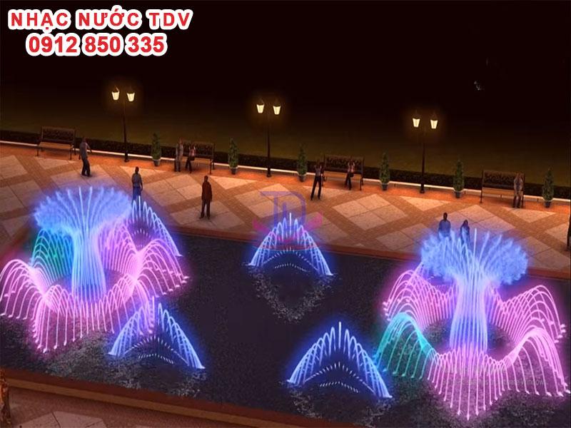 Thiết kế Nhạc nước bể hình chữ nhật - Nhạc nước bể dài 14