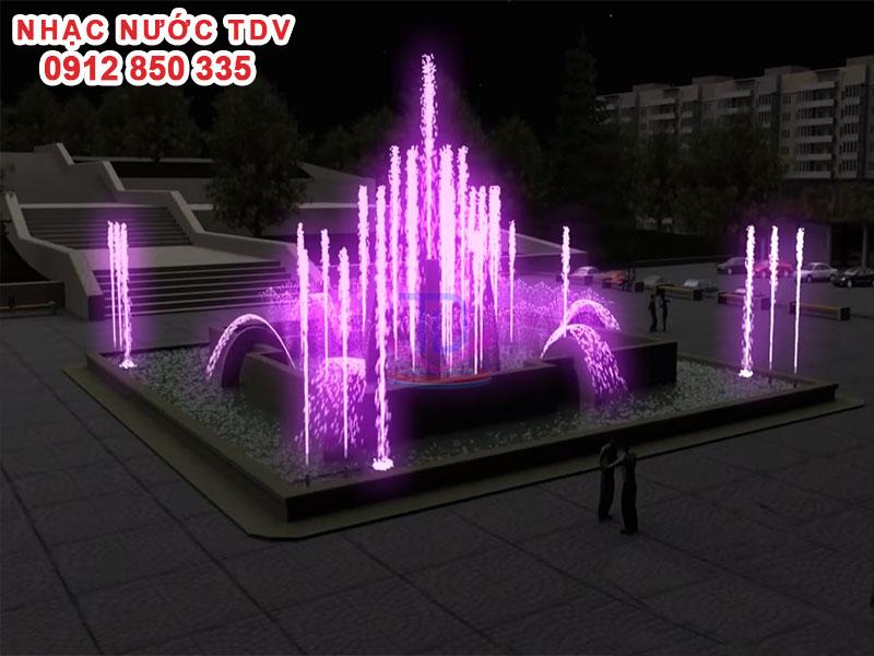 Thiết kế Nhạc nước bể hình chữ nhật - Nhạc nước bể dài 15