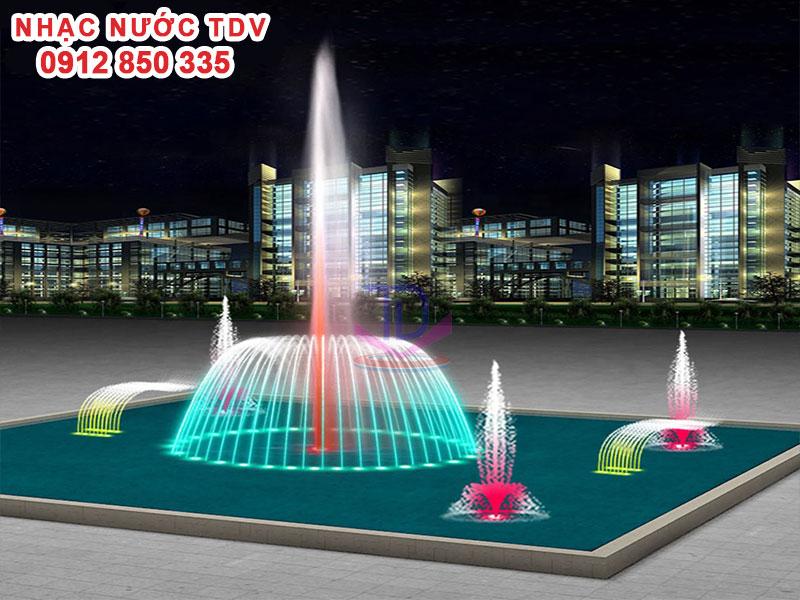Thiết kế Nhạc nước bể hình chữ nhật - Nhạc nước bể dài 2