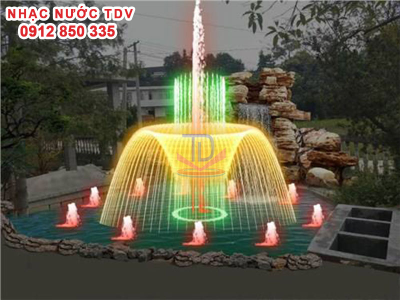 Thiết kế Nhạc nước bể hình chữ nhật - Nhạc nước bể dài 20