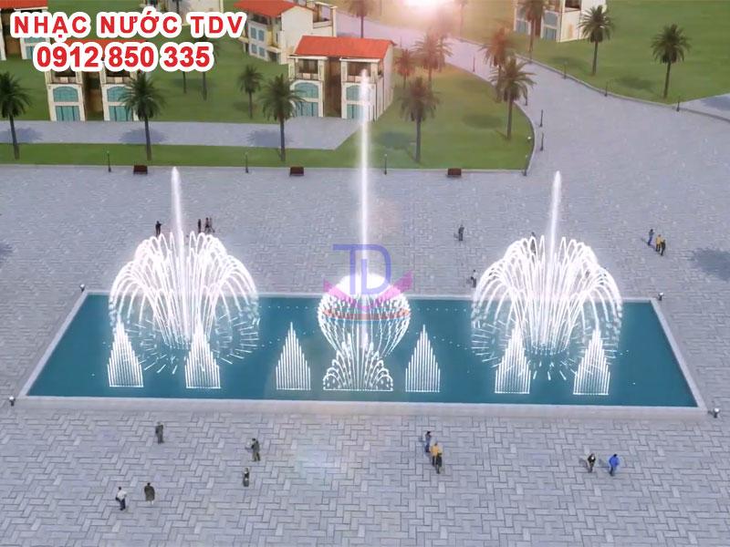 Thiết kế Nhạc nước bể hình chữ nhật - Nhạc nước bể dài 26