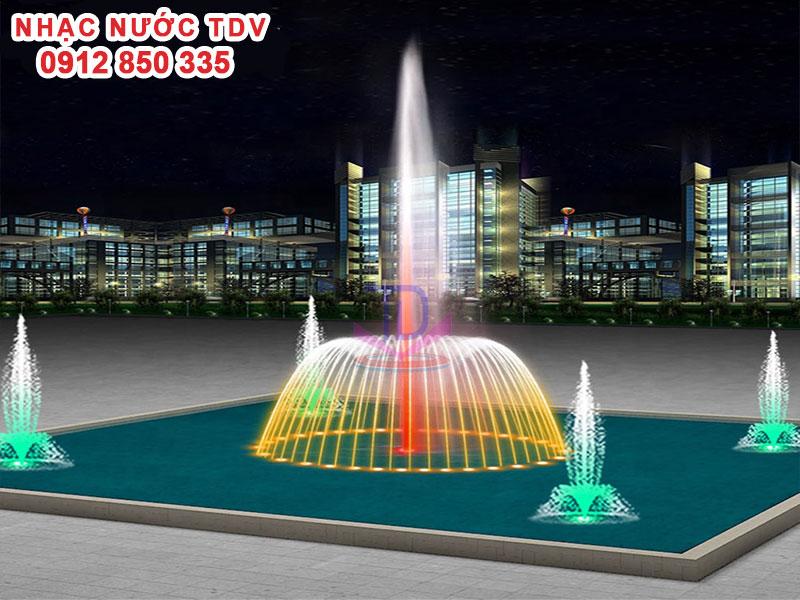 Thiết kế Nhạc nước bể hình chữ nhật - Nhạc nước bể dài 3