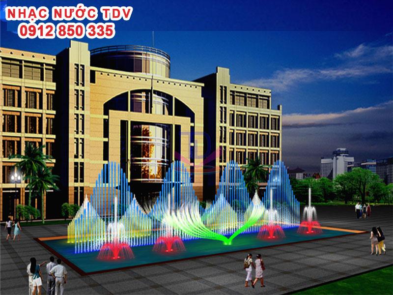 Thiết kế Nhạc nước bể hình chữ nhật - Nhạc nước bể dài 8