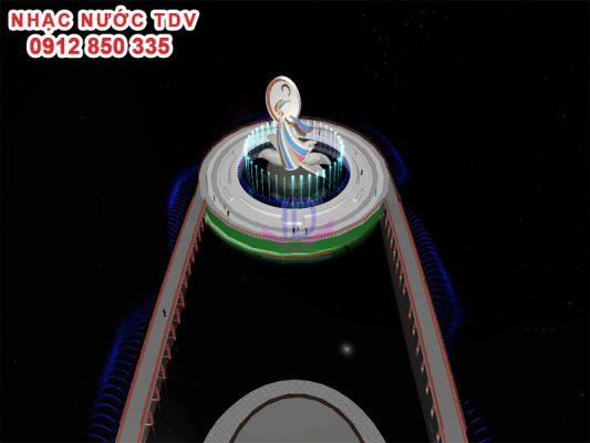 Thiết kế nhạc nước đảo tròn Quan họ Bắc Ninh 2
