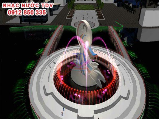 Thiết kế nhạc nước đảo tròn Quan họ Bắc Ninh 4