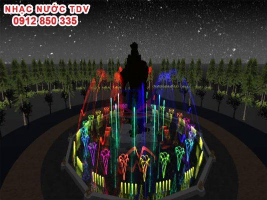 Thiết kế nhạc nước đền Hùng 3