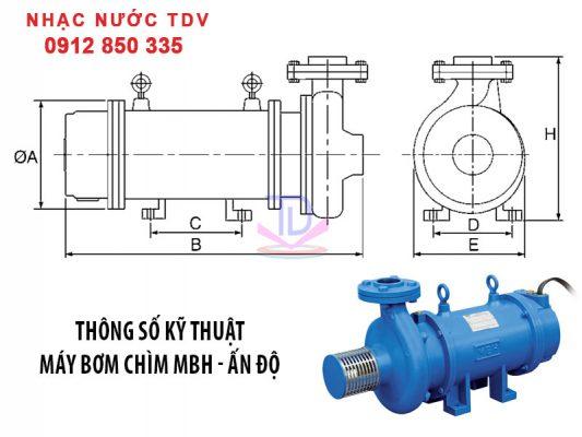 Máy bơm chìm MBH công suất 2HP, 3HP, 5HP, 7.5HP, 10HP, 15HP 6