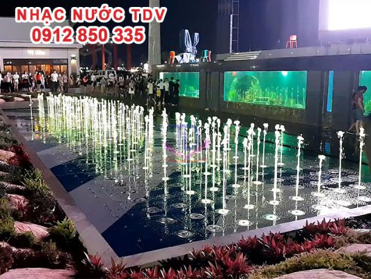 Sân phun nước ma trận