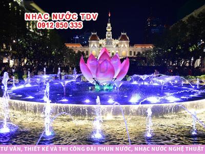 Đài phun nước Nguyễn Huệ -Nhạc nước âm sàn, mấy giờ chiếu?