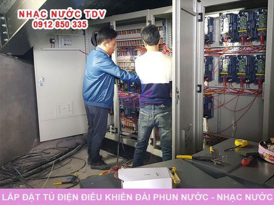 Lắp đặt tủ điều khiển đài phun nước - nhạc nước