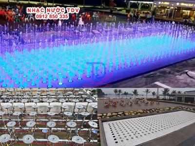 Đài phun nước bể cạn - sàn phun nước