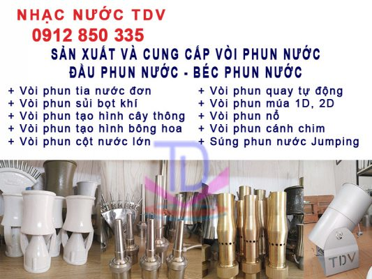Thi công đài phun nước Hà Nội chuyên nghiệp trọn dói TKTC 5